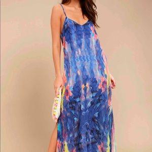 lulus watercolor dress!